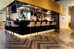 beautiful Amtico flooring in Selfridges bar area