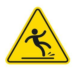Yellow Triangle Slip Warning Sign