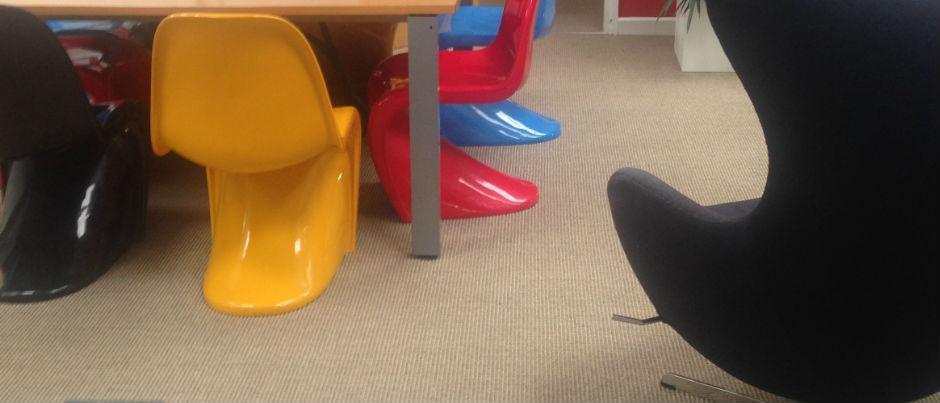 New office flooring installed into boardroom