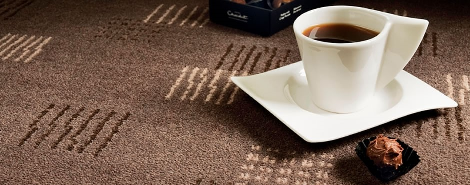 carpets in a cafe with a coffee