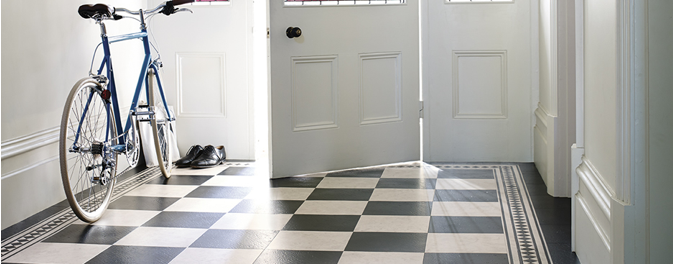Entrance vinyl flooring