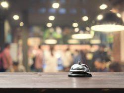 hospitality bell on a bar