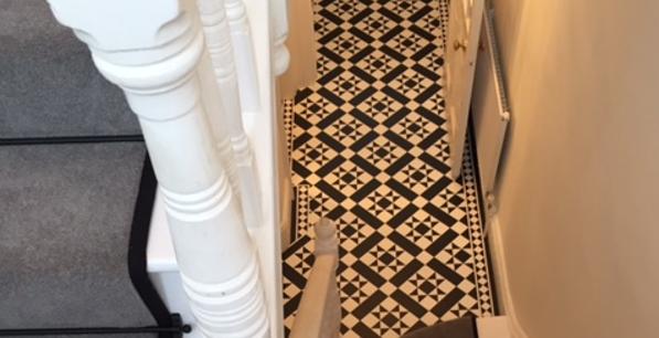 LVT entranceway flooring