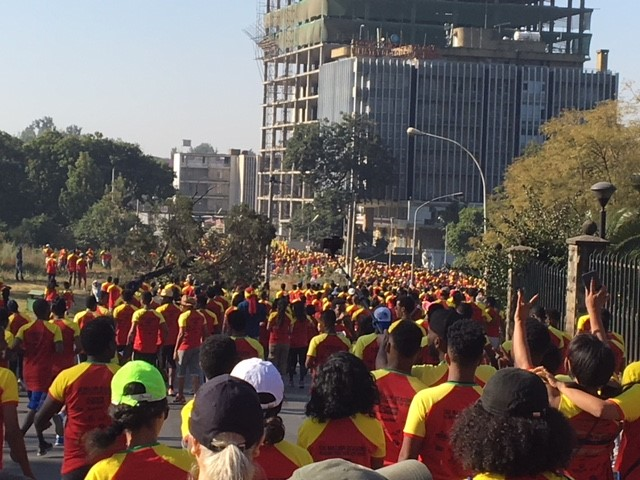 runners at the great Ethiopian run 2017
